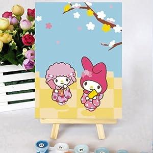 佳彩天颜 数字油画diy款 儿童卡通手绘动漫迷你装饰画 白雪公主 白雪