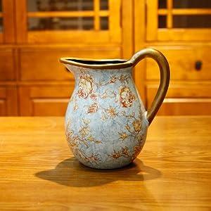 欧式复古陶瓷单把小花瓶 (花瓶不带花)