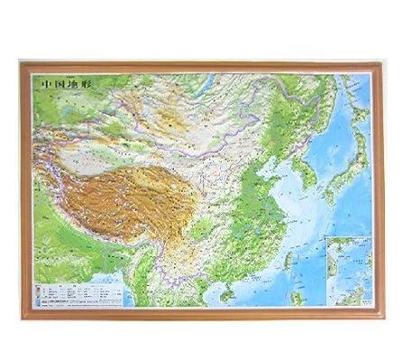 中国地形图 立体凹凸地势地貌地图