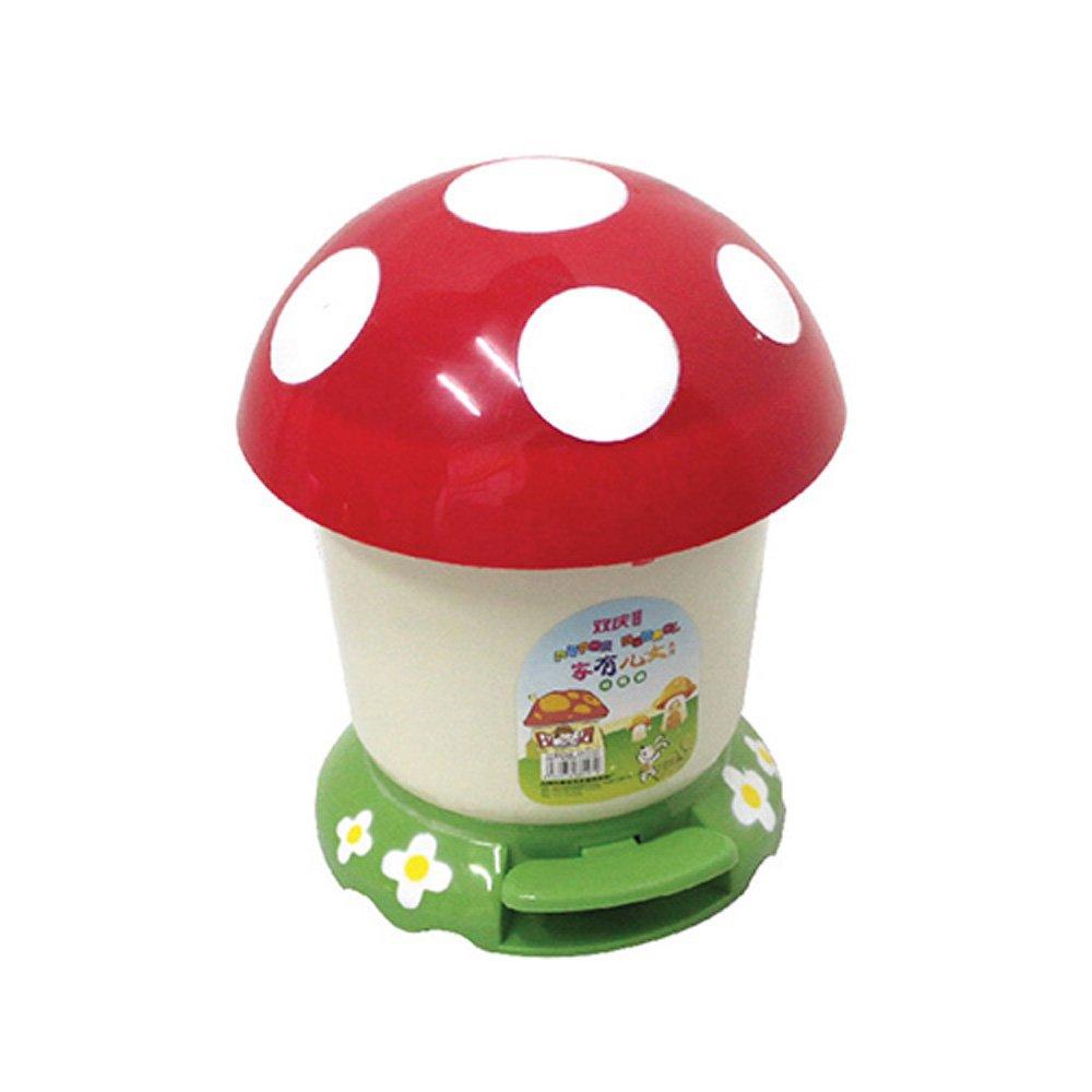 脚踏式6l蘑菇造型垃圾桶