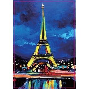 欧洲法国埃菲尔铁塔油画系列1