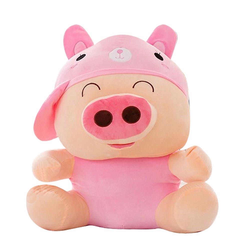 qumeng 趣萌 动漫毛绒玩具 可爱小猪猪 麦兜猪 大号动物麦兜猪公仔布