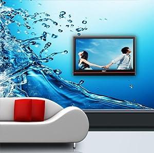 现代大型壁画壁纸|蓝色水珠电视沙发背景墙