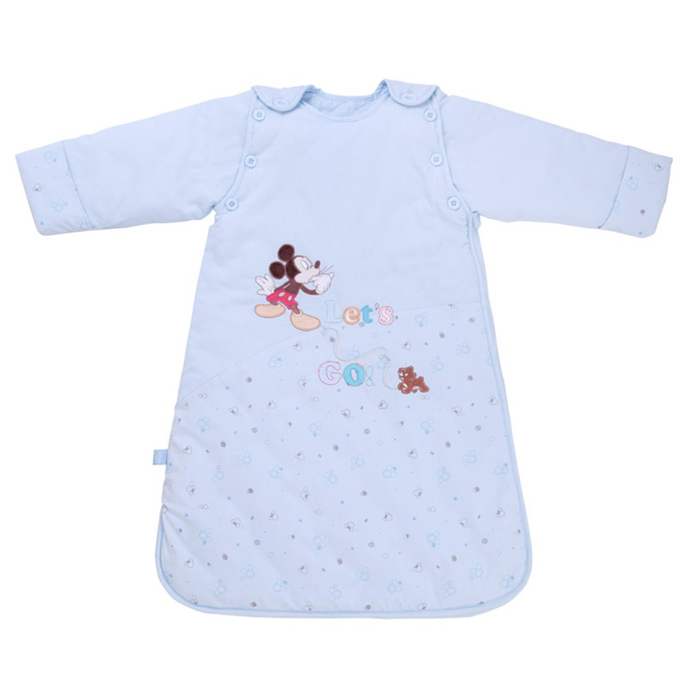 disney 迪士尼 新生婴儿睡袋秋冬款厚儿童睡袋宝宝防踢被春秋款全纯棉