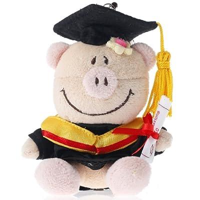 博士帽卡通猪
