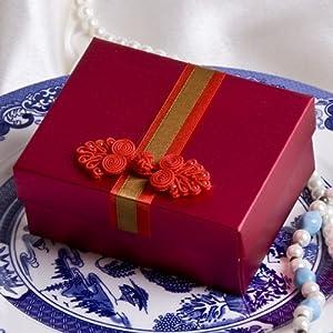 圆缘喜事 中式盘扣喜糖盒子 喜庆红色 个性创意袋 婚庆用品fh-003