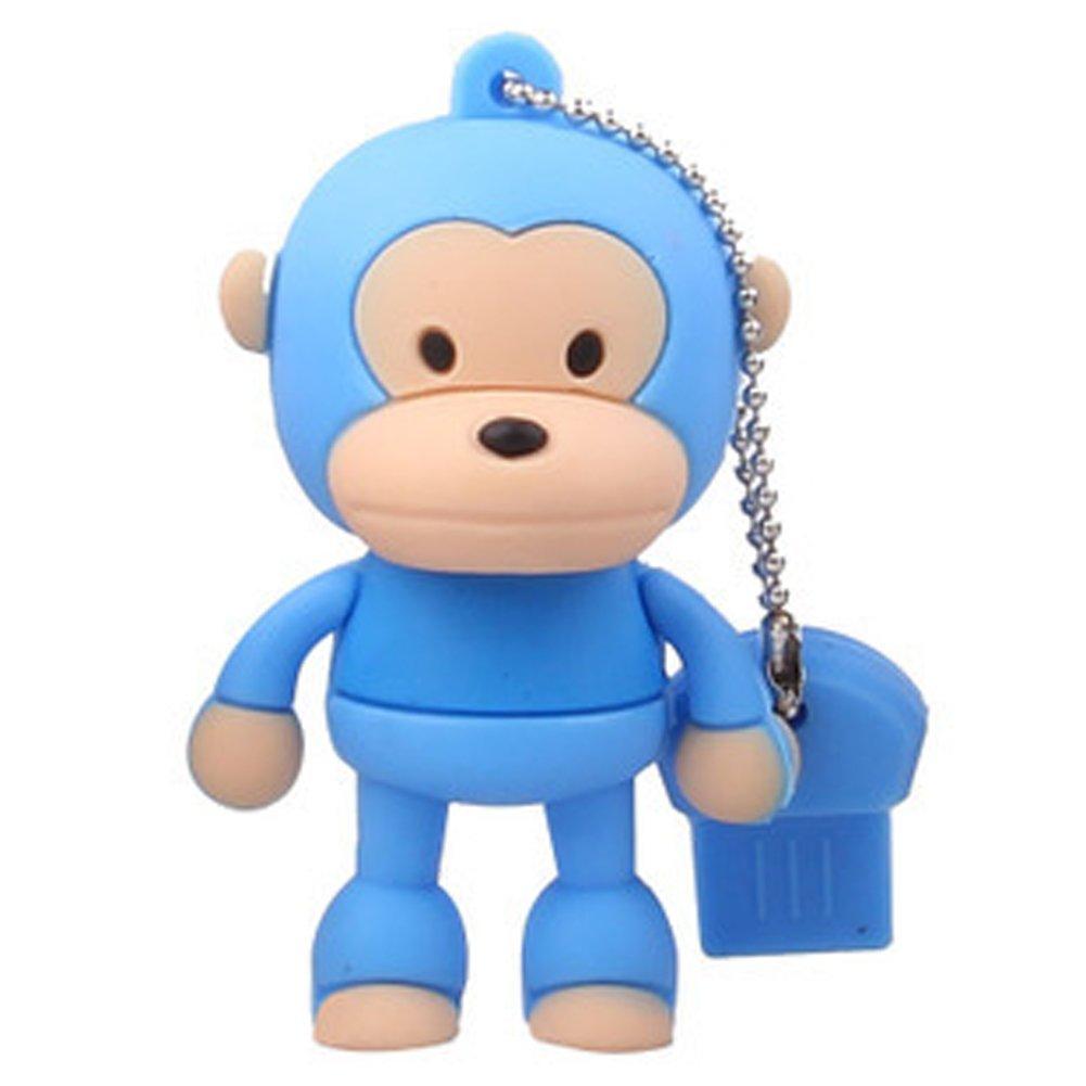 0正品足量创意礼品情侣u盘 可爱站姿猴 (16gb蓝色)