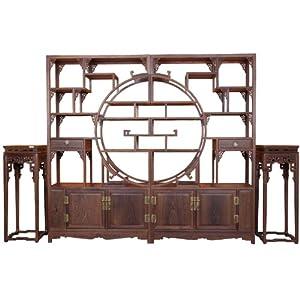 博古恒韵 博古架及花架三件套仿古中式家具