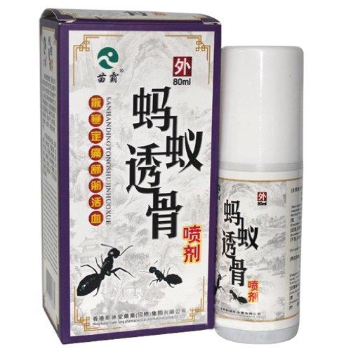 苗霸 蚂蚁透骨喷剂 80ml 风湿腰椎病 舒筋活血