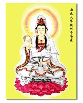 自油自画 数字油画diy 手绘中国风人物大幅佛神 70x95