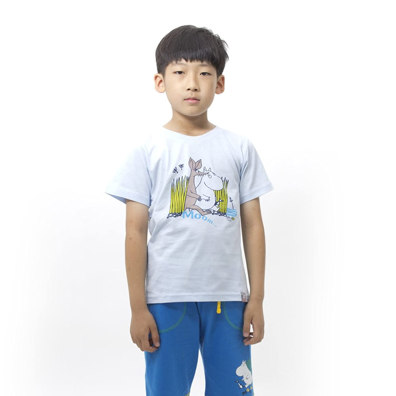 moomin 姆明 芬兰品牌童装 男童全棉动物印花半袖t恤