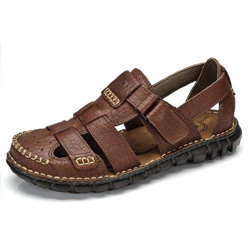 Camel 骆驼牌正品 2014夏季真皮透气高档男鞋时尚休闲鞋潮流凉鞋子 W422396002