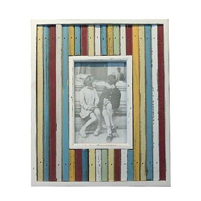 时光屋 木质仿古相框 欧式相框/画框 彩色木条 长方形