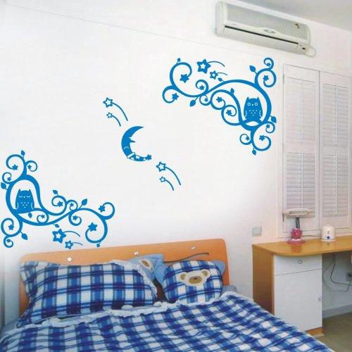 幼儿园教室布置花边窗花边框藤猫头鹰家居装饰墙饰贴