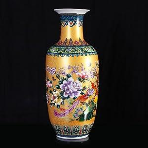高档中式珐琅彩瓷花瓶花插