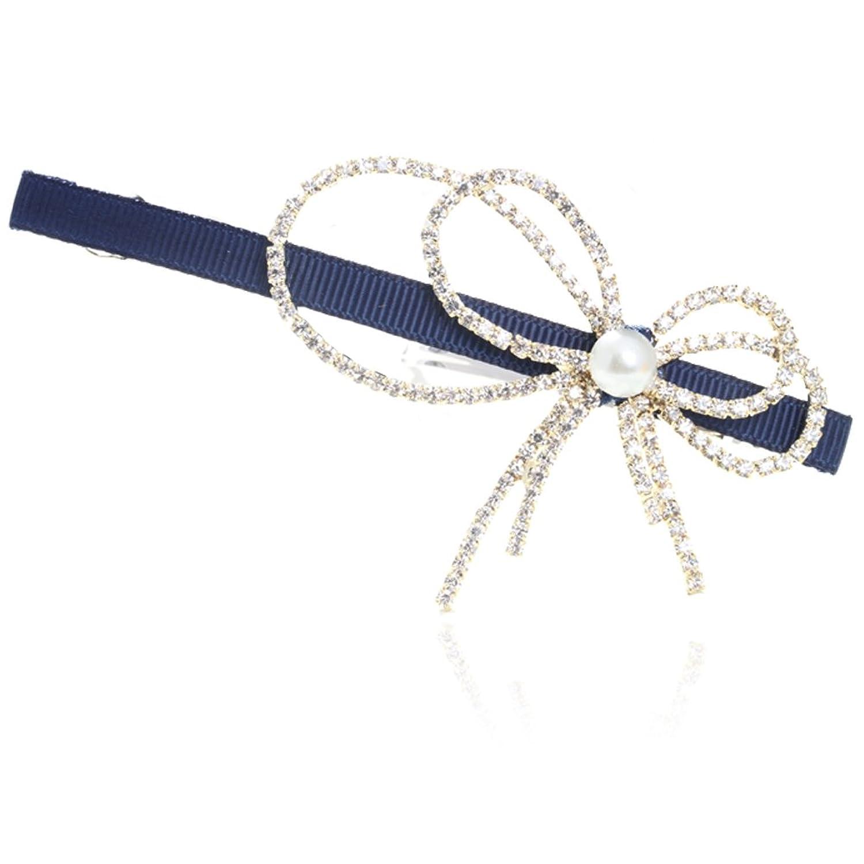 可爱小清新韩国时尚流行高档丝绸带 小蝴蝶结捷克爪链钻(不掉钻) 发夹