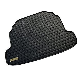 车畅 专为大众速腾设计 方砖纹 豪华汽车皮革后备箱垫