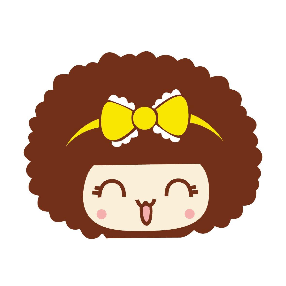 mocmoc 摩丝娃娃黄色蕾丝蝴蝶结 汽车划痕贴 搞笑可爱卡通 个性贴纸