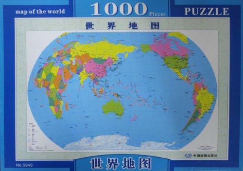 世界地图(1000片夜光拼图)图片图片