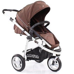 硕士豪华冲气三轮婴儿车/宝宝推车可折叠儿童伞车