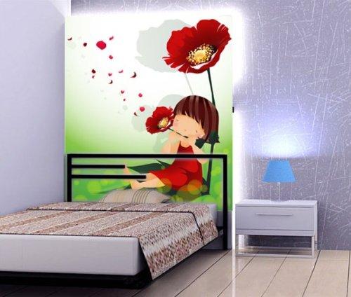 快乐贴 大型壁画壁纸墙纸 卧室/卡通儿童房 -四季可爱