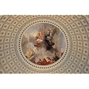 欧式大型油画吊顶天花板