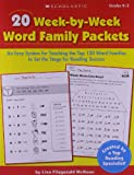 20 Week-by-Week Word Family Packets: Grades K-2