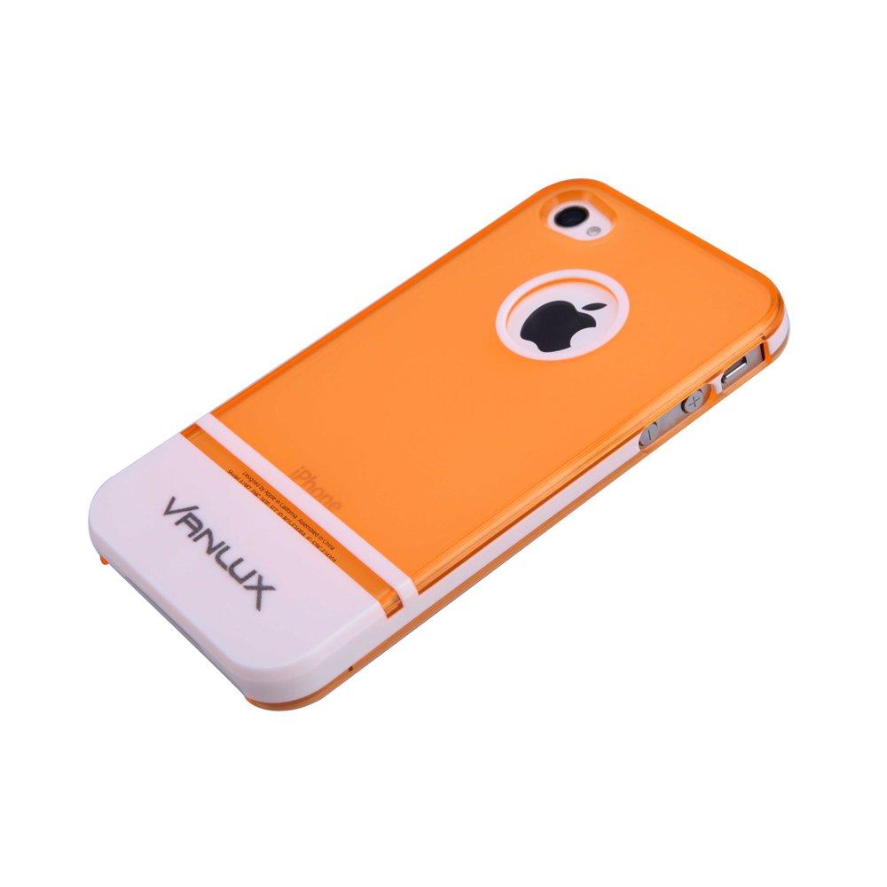 凡力仕 vanlux iphone4个性手机壳 iphone4/4s保护壳 苹果4边框套(橘