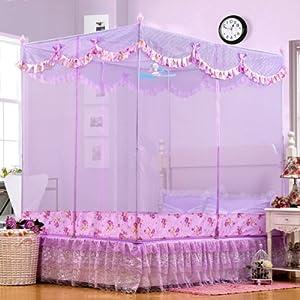 欧式卧室紫色窗帘