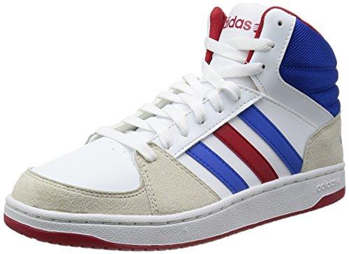 Adidas NEO 阿迪达斯运动生活 BASKETBALL 男 休闲篮球鞋 VLHOOPS MID F38431 FTWR 白/蓝/校园红 42 (UK 8)