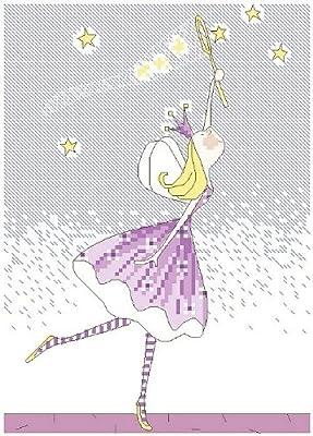 万众家园 十字绣 客厅卧室人物画 可爱卡通 小公主之捕星 11ct rs线 3