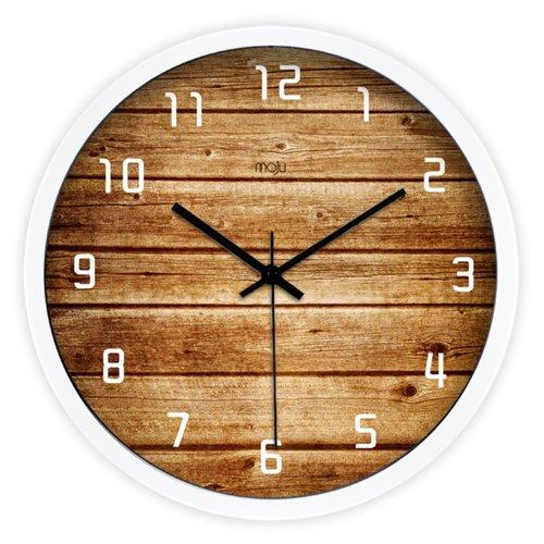 漫彩 创意艺术 超静音挂钟 雅致 客厅钟表时钟挂钟石英钟 t-006 (白色图片