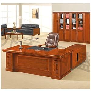 【乔志百盛】实木大板桌时尚简约老板桌办公桌2/2.2米