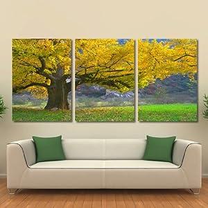 美时美刻 现代风景画家居装饰画客厅背景墙壁画大树金秋玄关挂画餐厅