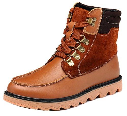 Fuguiniao 富贵鸟 冬季保暖工装靴 雪地靴 优质纳帕皮 登山旅行靴 保暖绒毛 加毛鞋垫 牛筋鞋底 冬季男靴