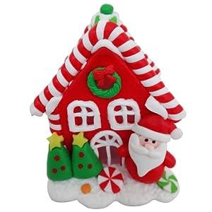 商品描述         此款闪灯圣诞糖果屋-老公,为圣诞老公造型,娇小可爱