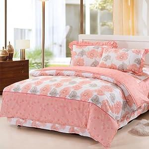 全棉公主韩版花边床裙床罩床笠式四件套