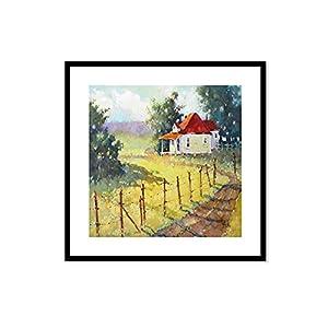 简欧式田园风格装饰画客厅卧室餐厅有框挂