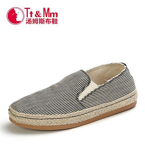 Tt&Mm 汤姆斯 男鞋春秋潮时尚复古男式休闲鞋平跟套脚帆布鞋懒人鞋42010M