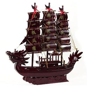 木雕红木船 一帆风顺工艺品