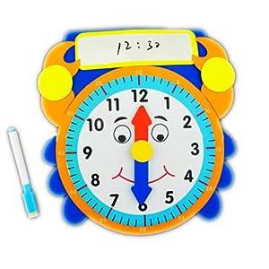 diy手工制作识时钟系列时间教具玩具认知学习提升附