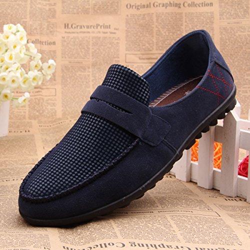 卓不凡 新款低帮帆布鞋 英伦潮懒人鞋一脚登板鞋 套脚拼色休闲单鞋