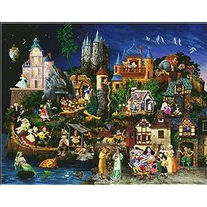 万众家园 十字绣 客厅卡通风景画 梦幻城堡魔法城堡满