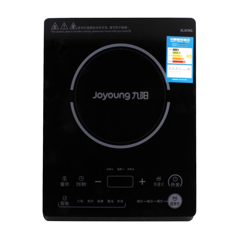 九阳电磁炉jyc-21es55c( 赠汤锅 炒锅 黑晶面板 触摸感应 健康炒智能
