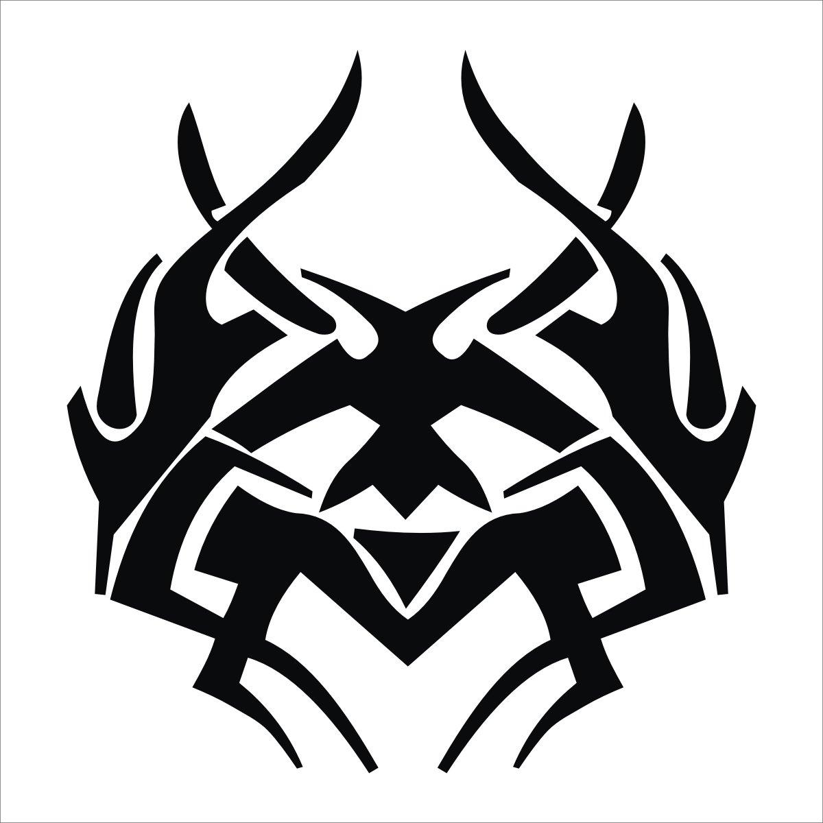 sk 深卡 个性运动龙标车身随意贴系列28款 黑色 20厘米图片