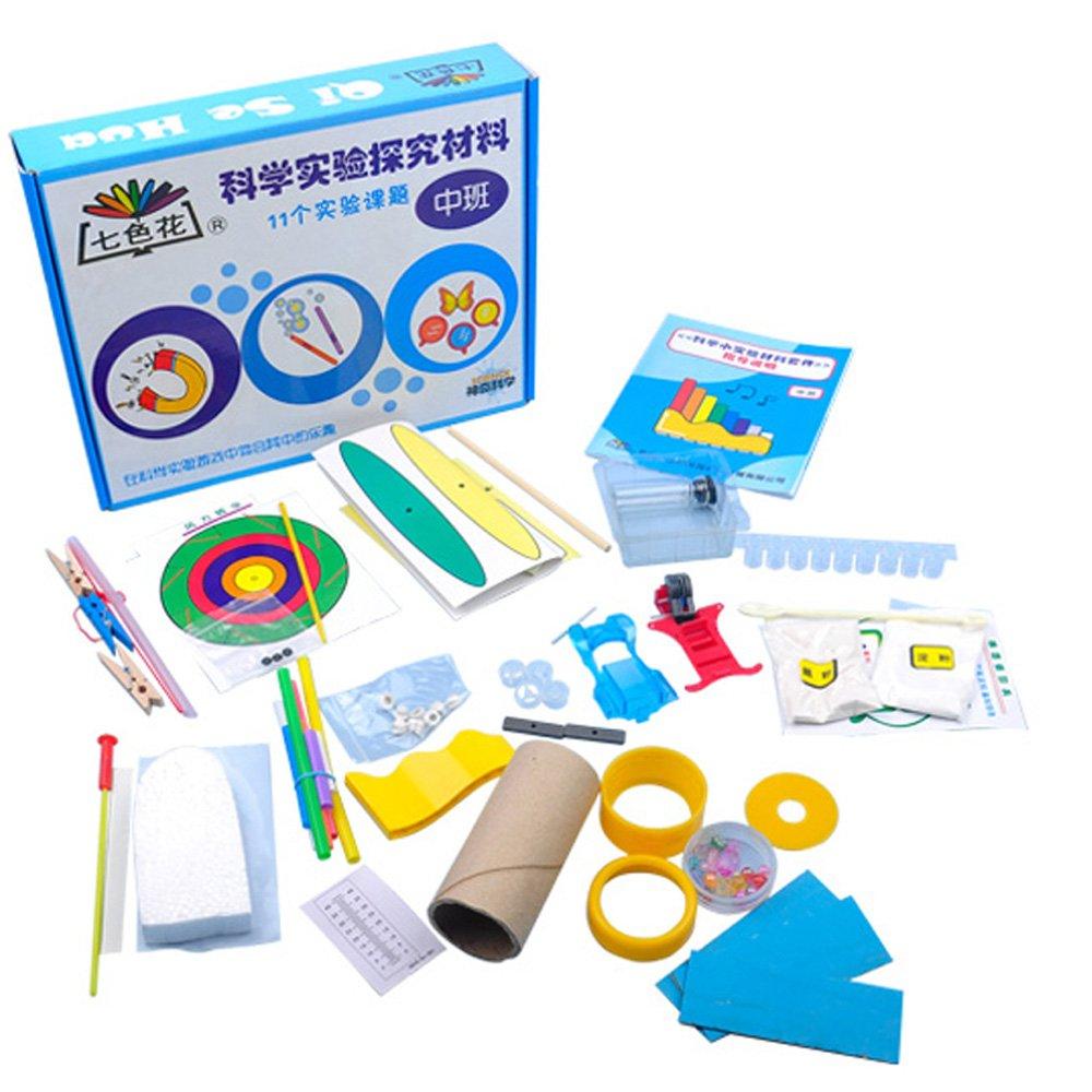 七色花 幼教幼儿园科学小制作探索试验玩具材料教具实验套装 (中班)