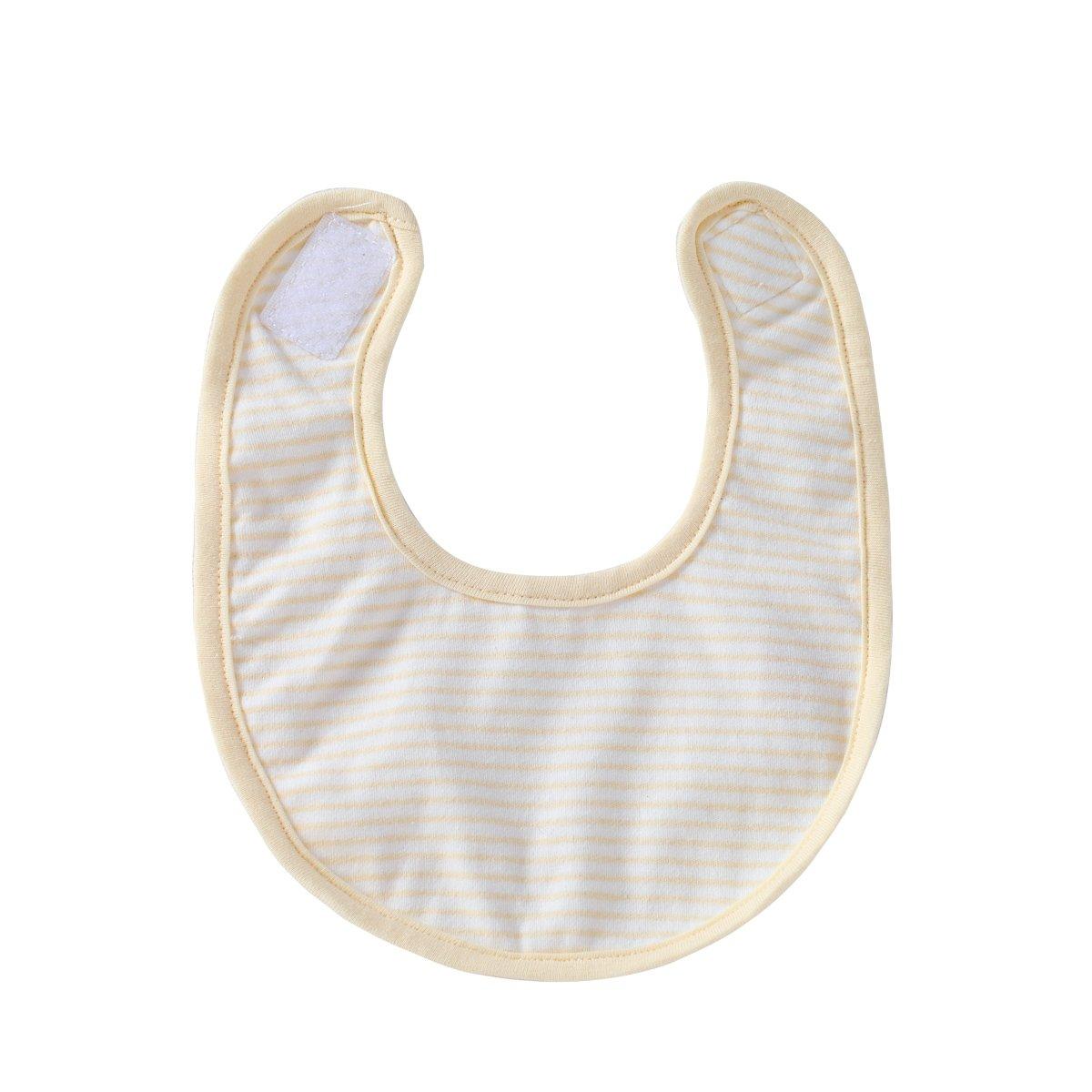 酷尾巴 新生儿用品宝宝可爱小围嘴 婴儿纯棉双面布口水巾围兜饭兜 浅