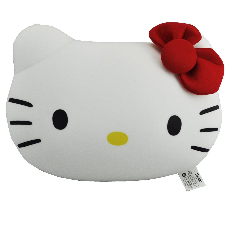 "hello kitty 10.5""凯蒂猫头枕变u枕 白色"