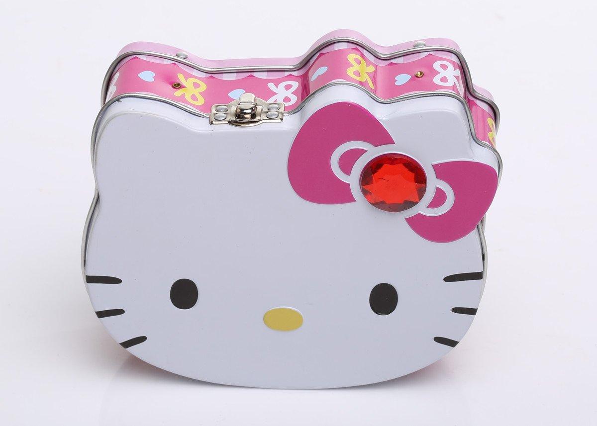 kitty可爱猫头造型铁盒巧克力