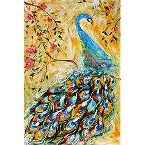 孔雀,高档纯手绘无框油画